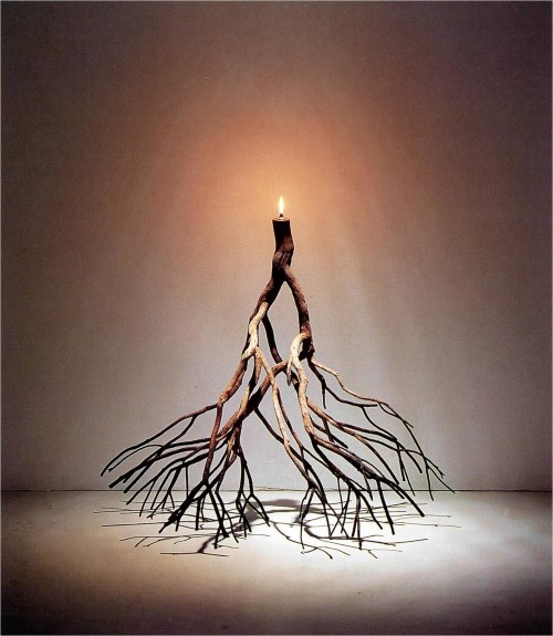 Hossein Valamanesh, Untitled, 1999, lavender bush, oil lamp, 80 x 58 x 82 cm