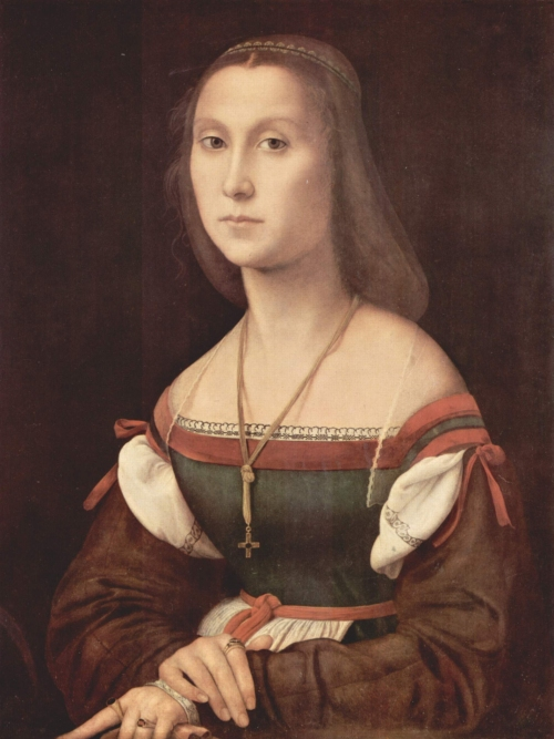 raphael_48_portrait_of_a_young_woman